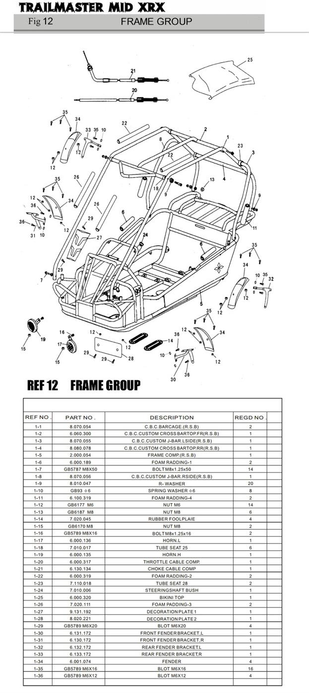 Mid Ref on Coolster Dirt Bike Parts Diagram